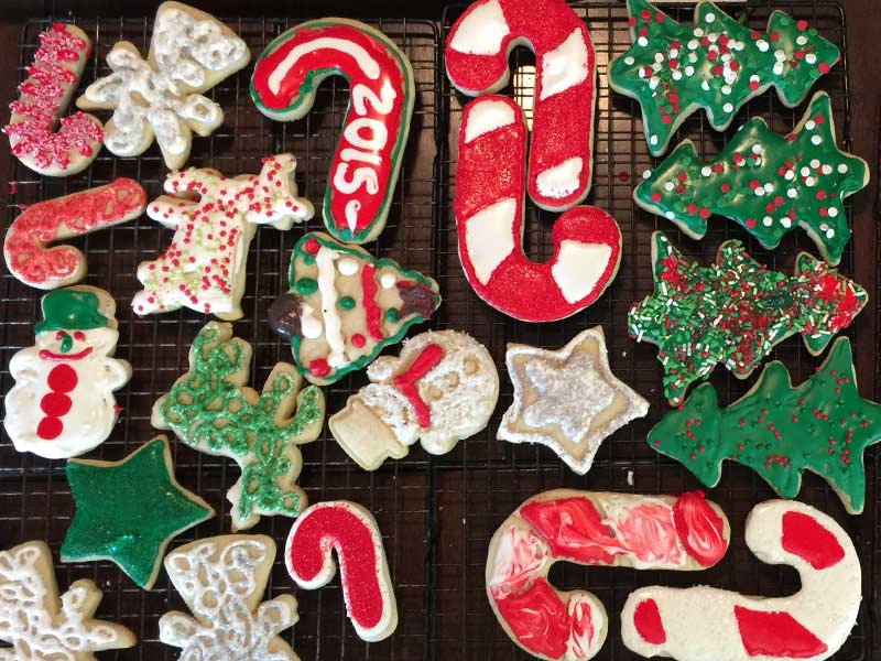 What do I need to decorate Christmas Cookies with my kids